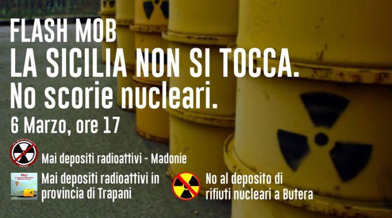 Flash mob 6 marzo 2021, davanti la sede dell'ARS per dire No ai depositi radioattivi in Sicilia