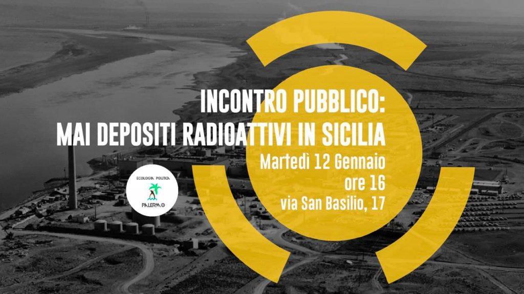 Evento: Mai depositi radioattivi in Sicilia - Palermo, 12 gennaio 2020